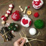 bolas de navidad tejidas